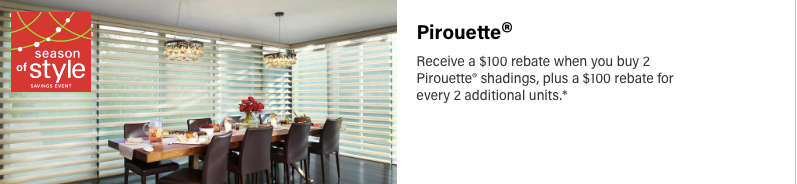Hunter Douglas Pirouette Discount