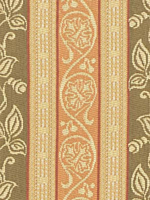 TRADITIONAL    WOVENS Scrolling Leaf Fabric - Safari