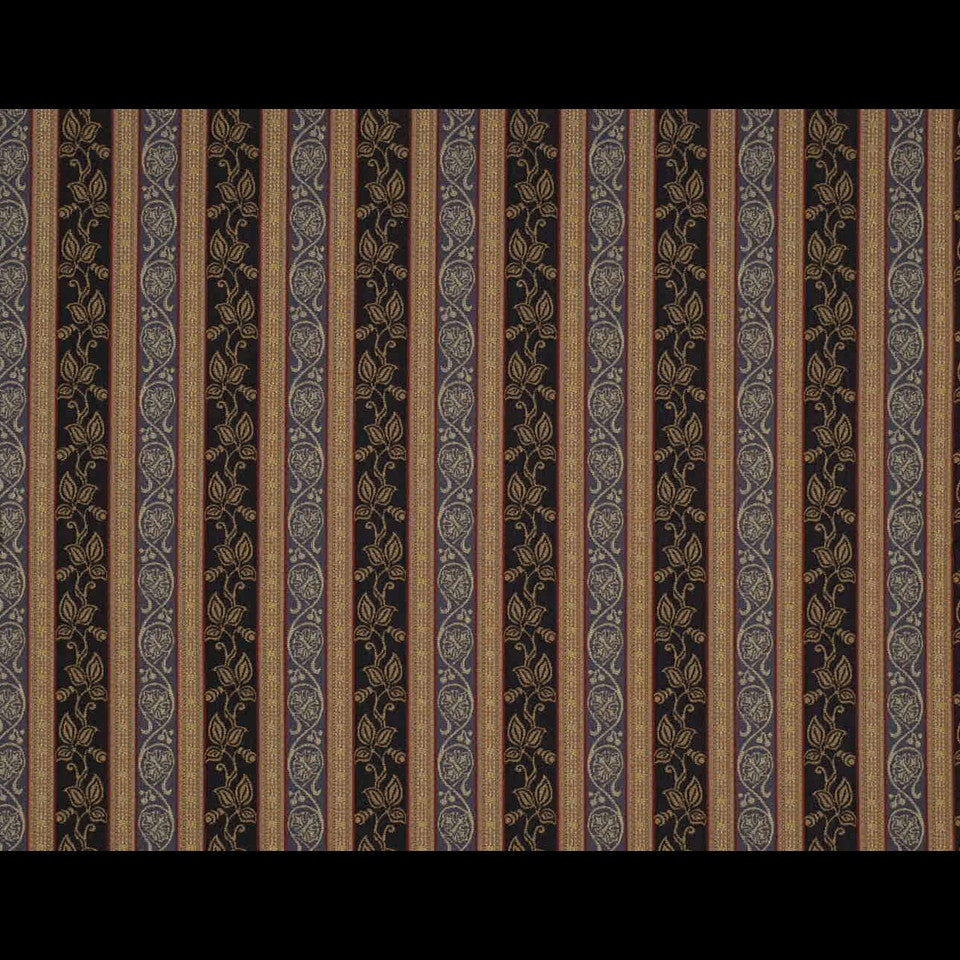 TRADITIONAL    WOVENS Scrolling Leaf Fabric - Midnight