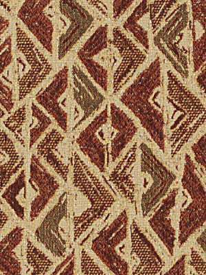 MODERN WOVENS Arrowpoint Fabric - Brick Dust