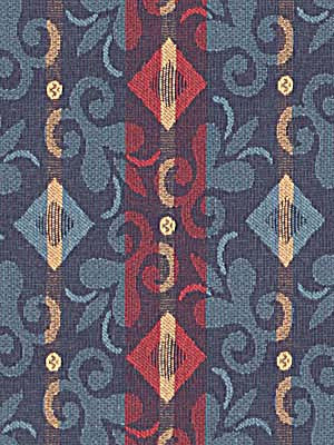 MODERN WOVENS Diamond Scroll Fabric - Midnight