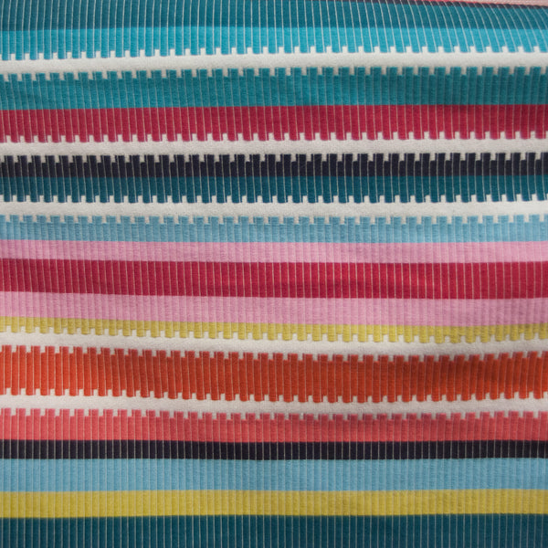 Ribbon Rainbow Stripe Fabric