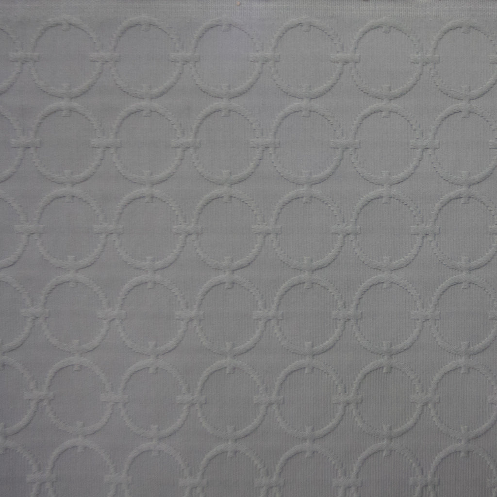 Dove Gray Round Matrix Fabric