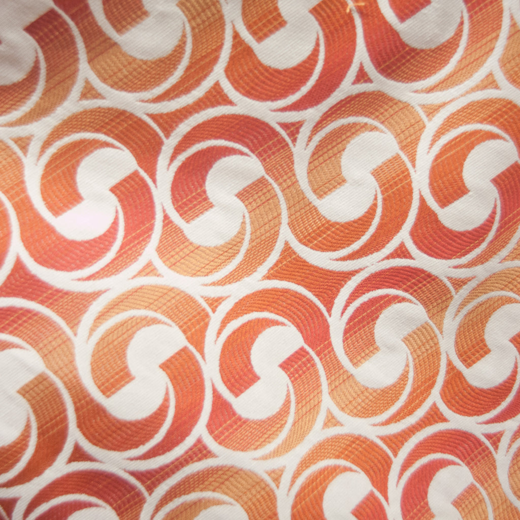 Interlocking Pattern in Tangerine