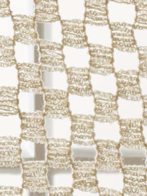 LACE AND EYELET Boucle Squares Fabric - Natural