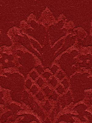 WASHED CHENILLE JACQUARDS Beaumaris Fabric - Scarlet