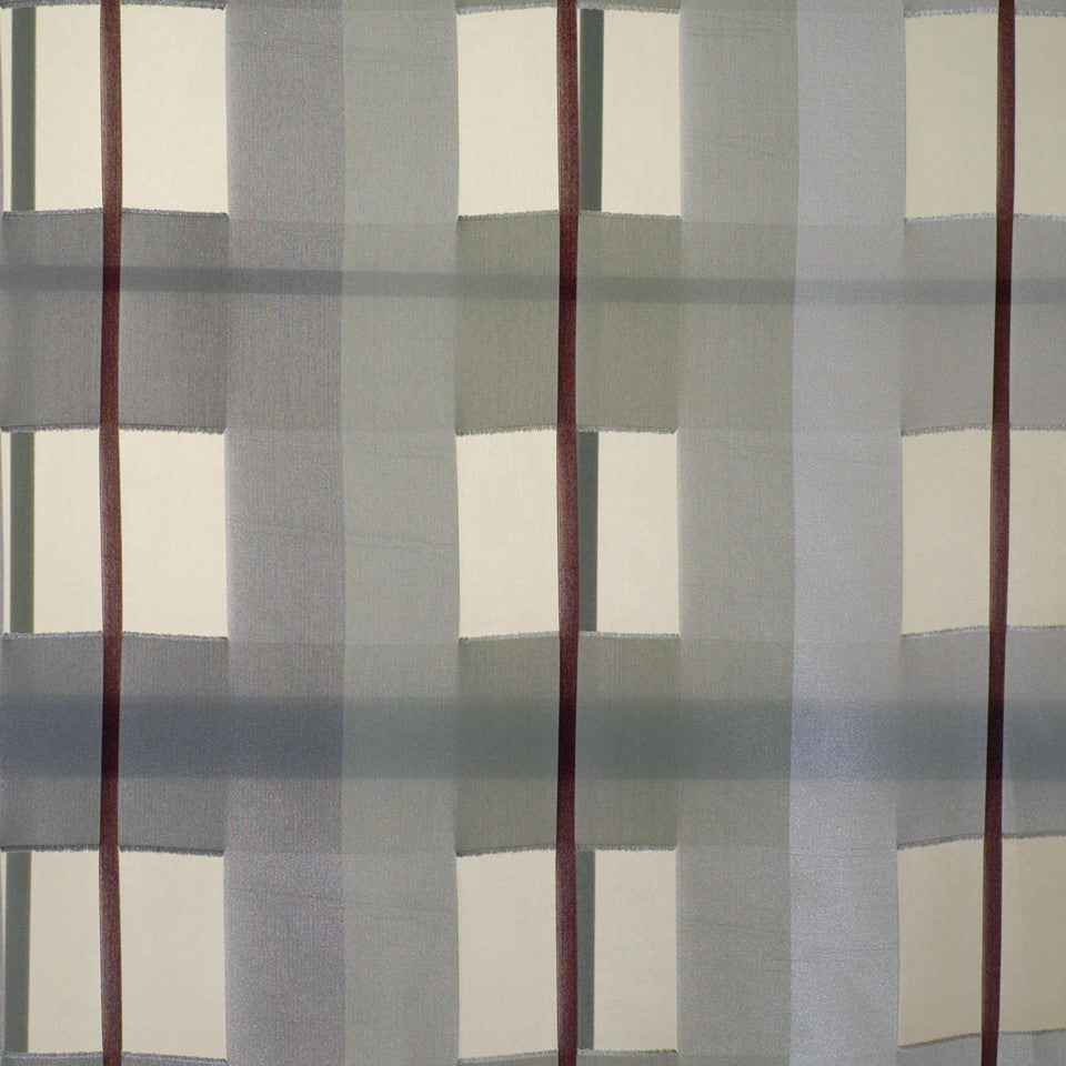 CONTEMPORARY WINDOW Cubeta Fabric - Ruby