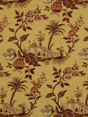 Floral Dynasty Fabric - Gold Grenadine