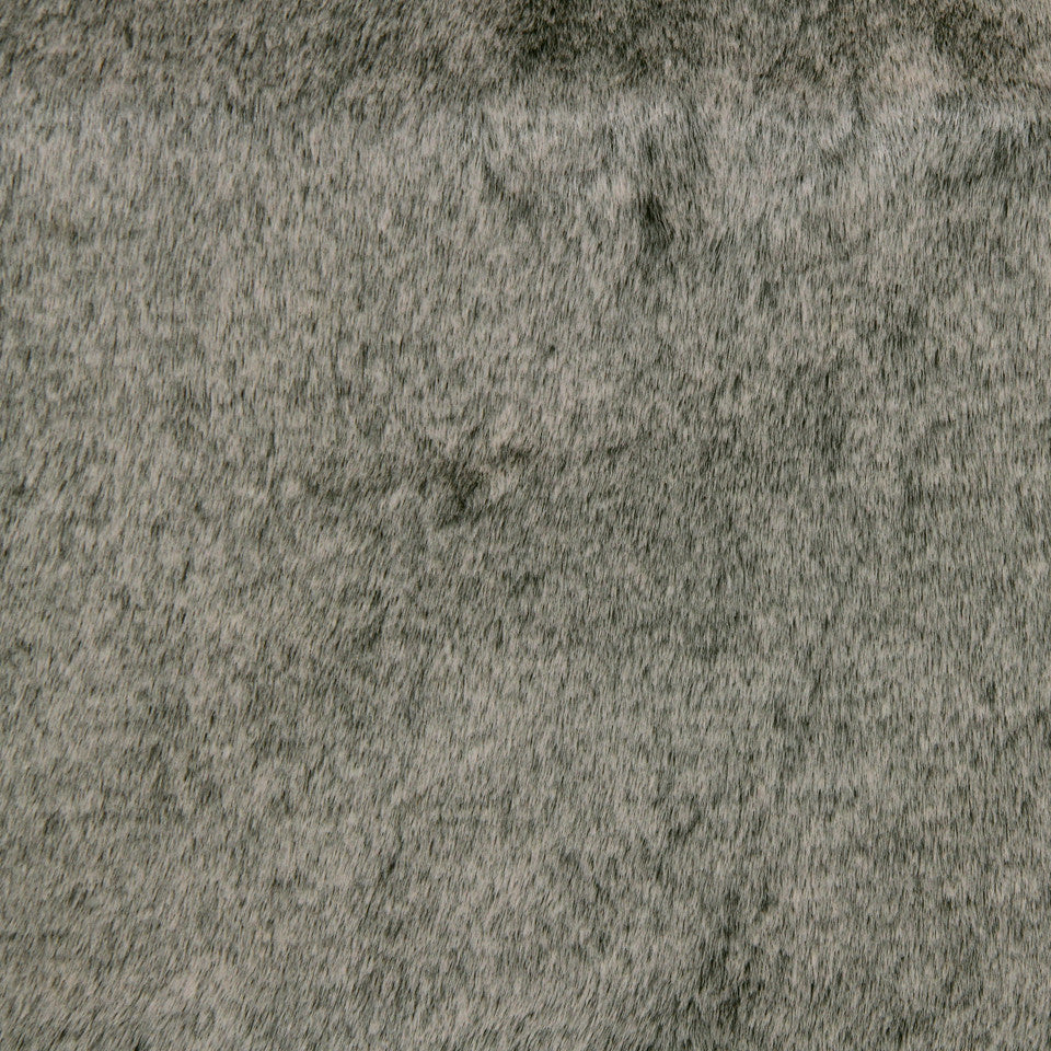 LAVISH FAUX FURS Faux Fox Fabric - Grey Fox