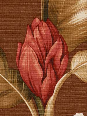 Orchid Garden Fabric - Tobacco