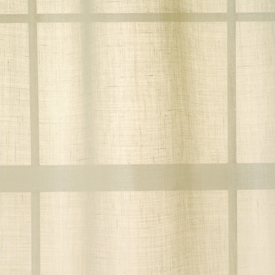 TEXTURED SHEERS Tethra Fabric - Linen