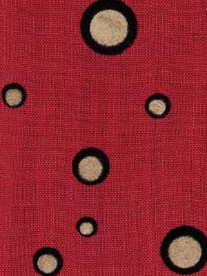 Pollock Fabric - Scarlet Night