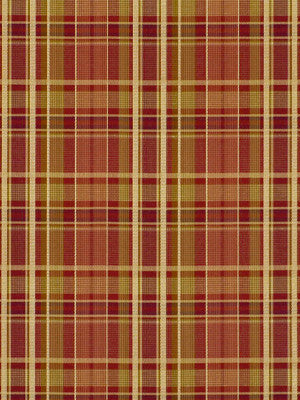 NUTMEG-SPICE-BONSAI Hudson Plaid Fabric - Paprika