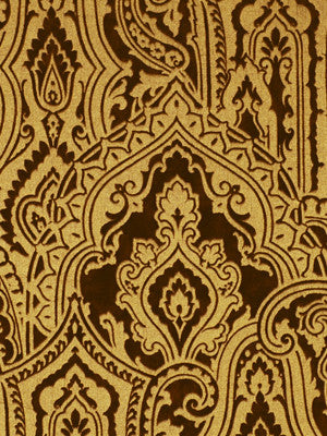 Gilded Paisley Fabric - Bronze