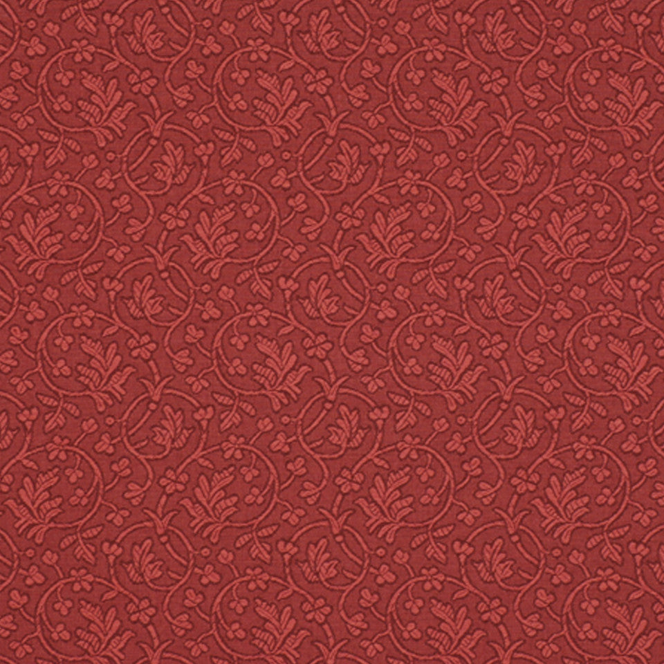 DRAWING ROOM UPH CONTRACT Edwina Fabric - Cranberry