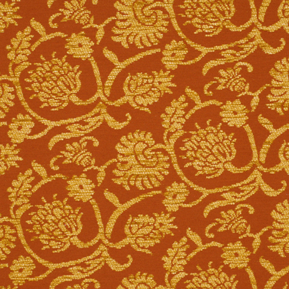 DRAWING ROOM UPH CONTRACT Balfe Fabric - Cinnabar