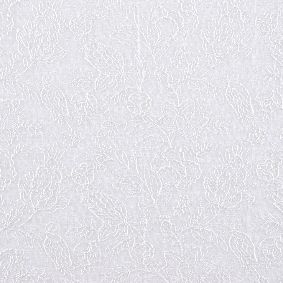 NATURAL SHEERS LIGHT NEUTRALS Lace Fantasy Fabric - Alabaster