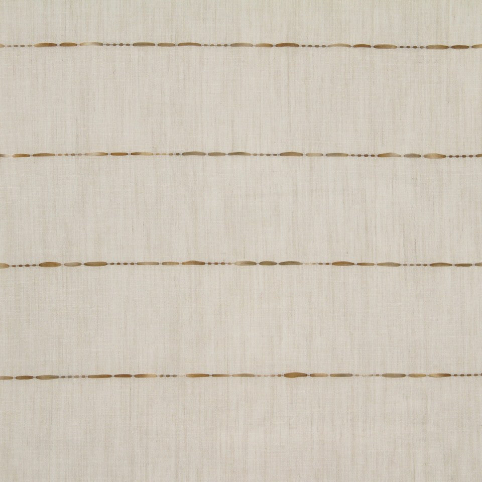 NATURAL SHEERS LIGHT NEUTRALS Understudy Fabric - Saddle