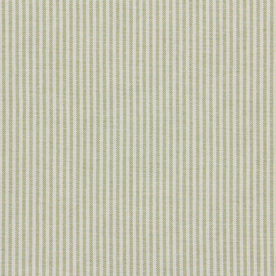 TICKING STRIPES Oxford Unquilt Fabric - Celery