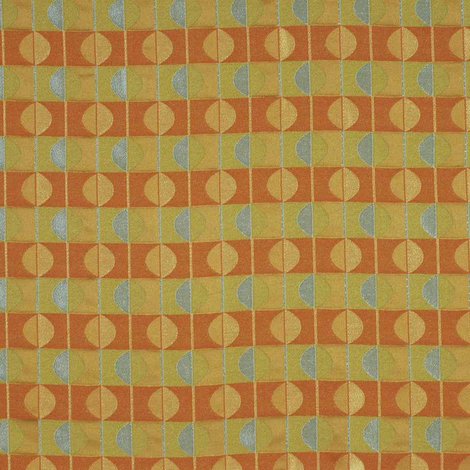 TEABERRY-SAFFRON-CHILI Spherical Fabric - Mandarin