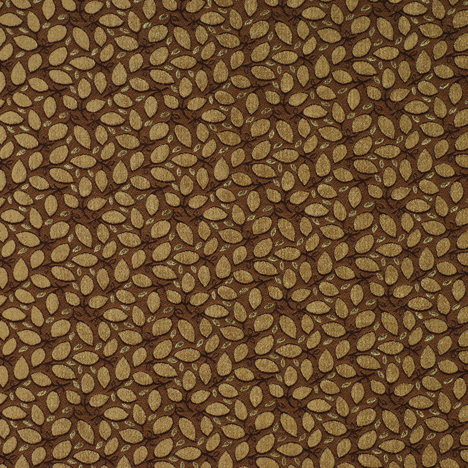 TEABERRY-SAFFRON-CHILI Leaf Pile Fabric - Rosewood