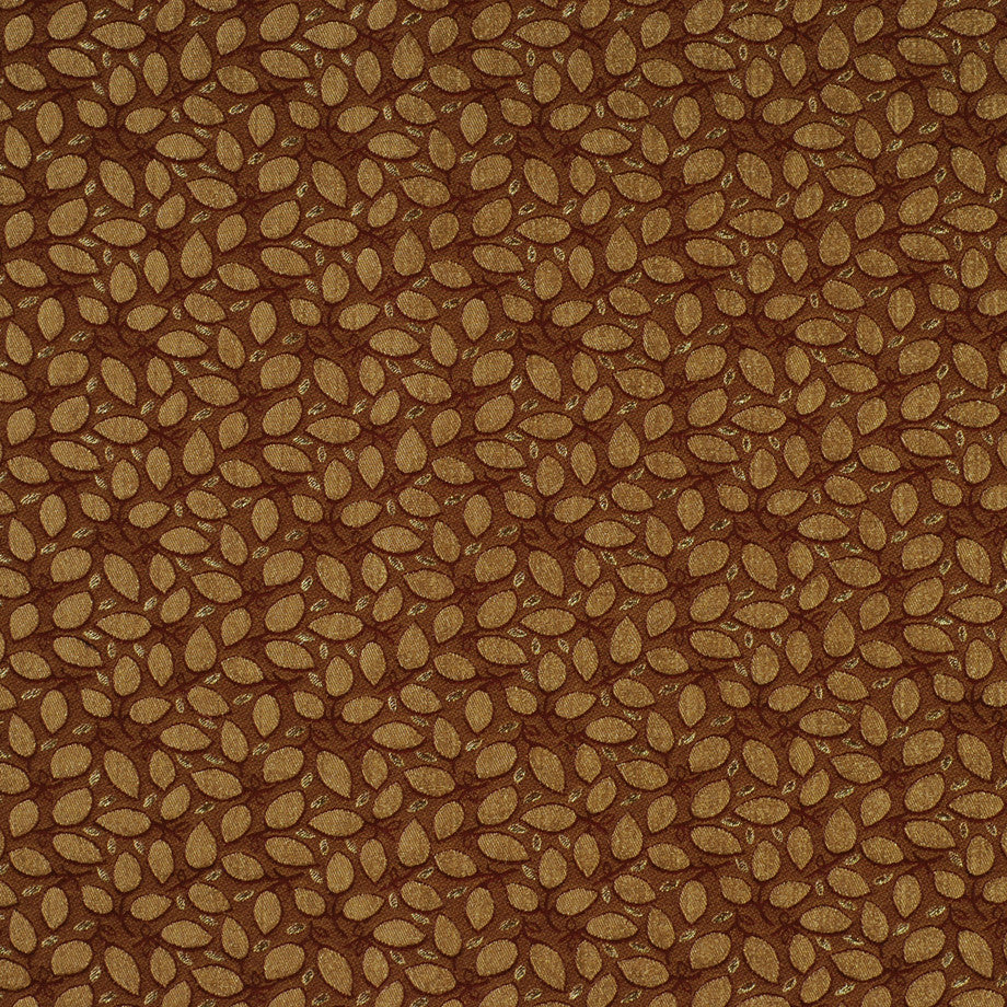 TEABERRY-SAFFRON-CHILI Leaf Pile Fabric - Paprika