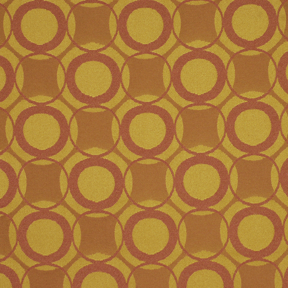 TEABERRY-SAFFRON-CHILI Full Circle Fabric - Teaberry