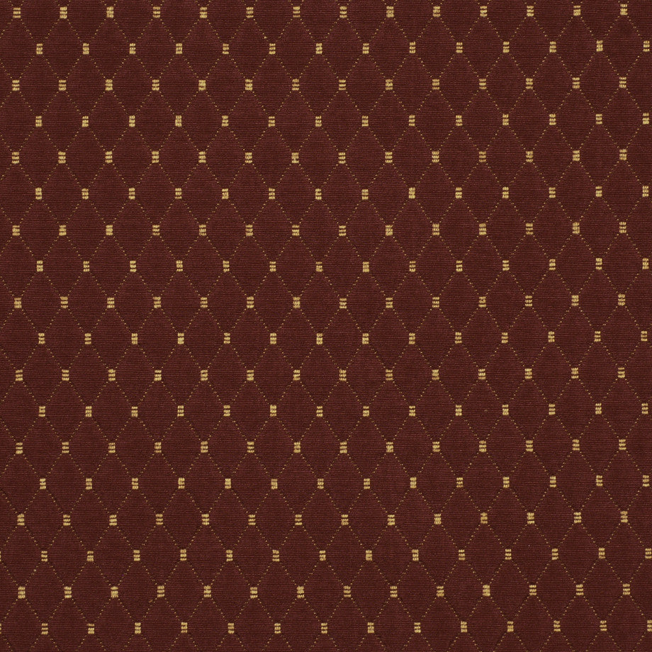 TEABERRY-SAFFRON-CHILI Diamond Motif Fabric - Pompeii