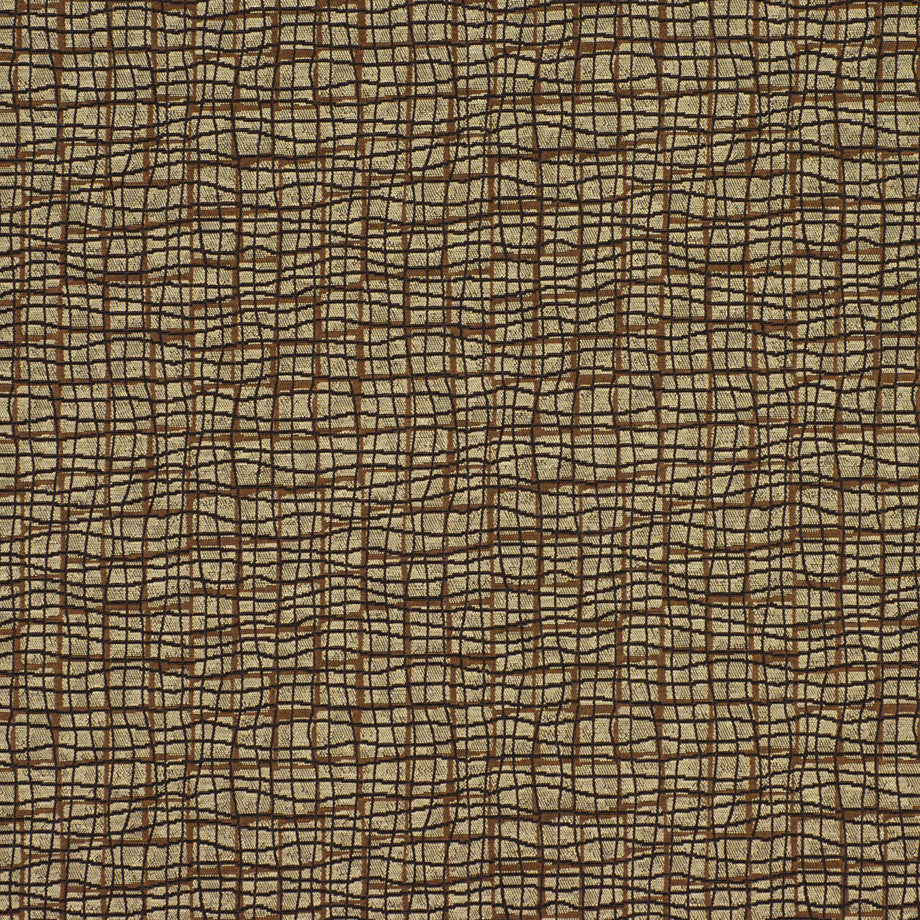 TRANSITIONS Grid Blocks Fabric - Pecan