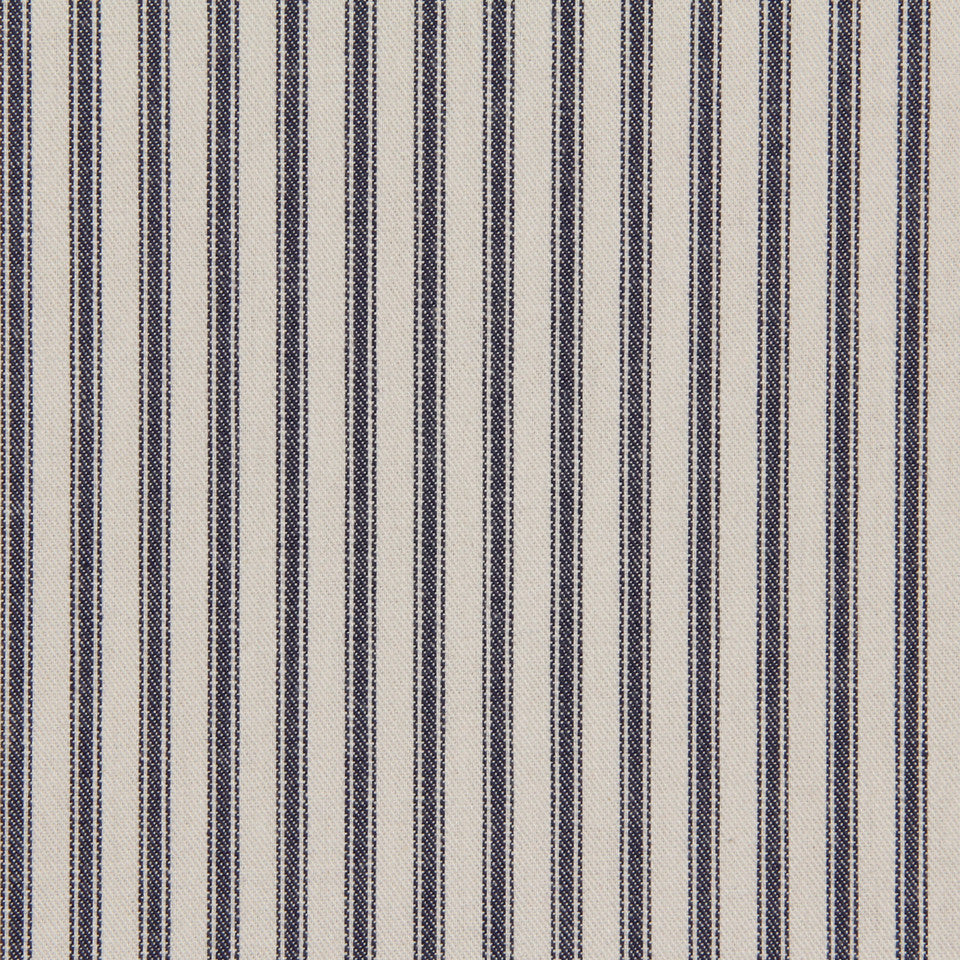 MARINER-COASTAL-NAVY Cottage Stripe Fabric - Ink