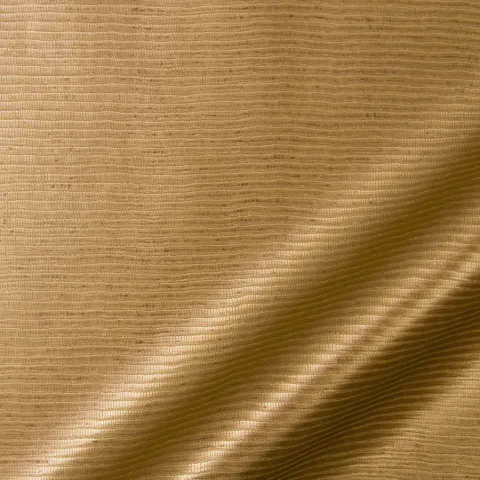 LUXE FAUX LEATHER Cane Fabric - Aged Gold
