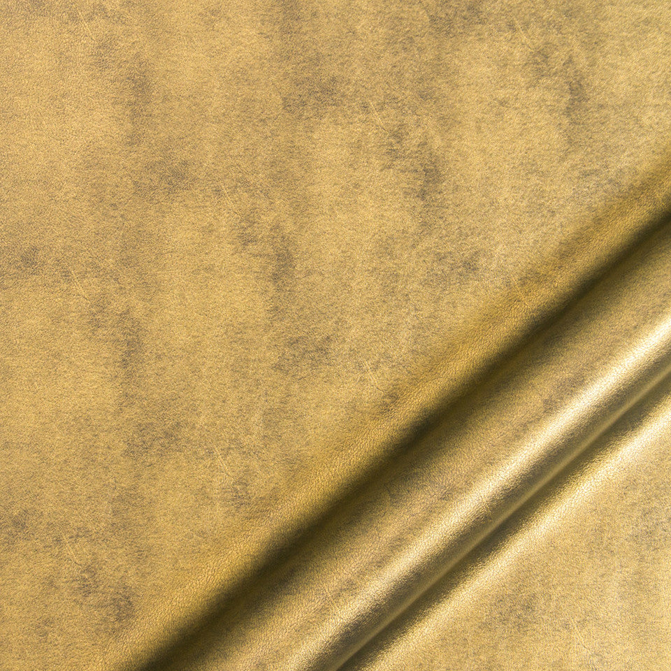 LUXE FAUX LEATHER Burnishd Metal Fabric - Olive