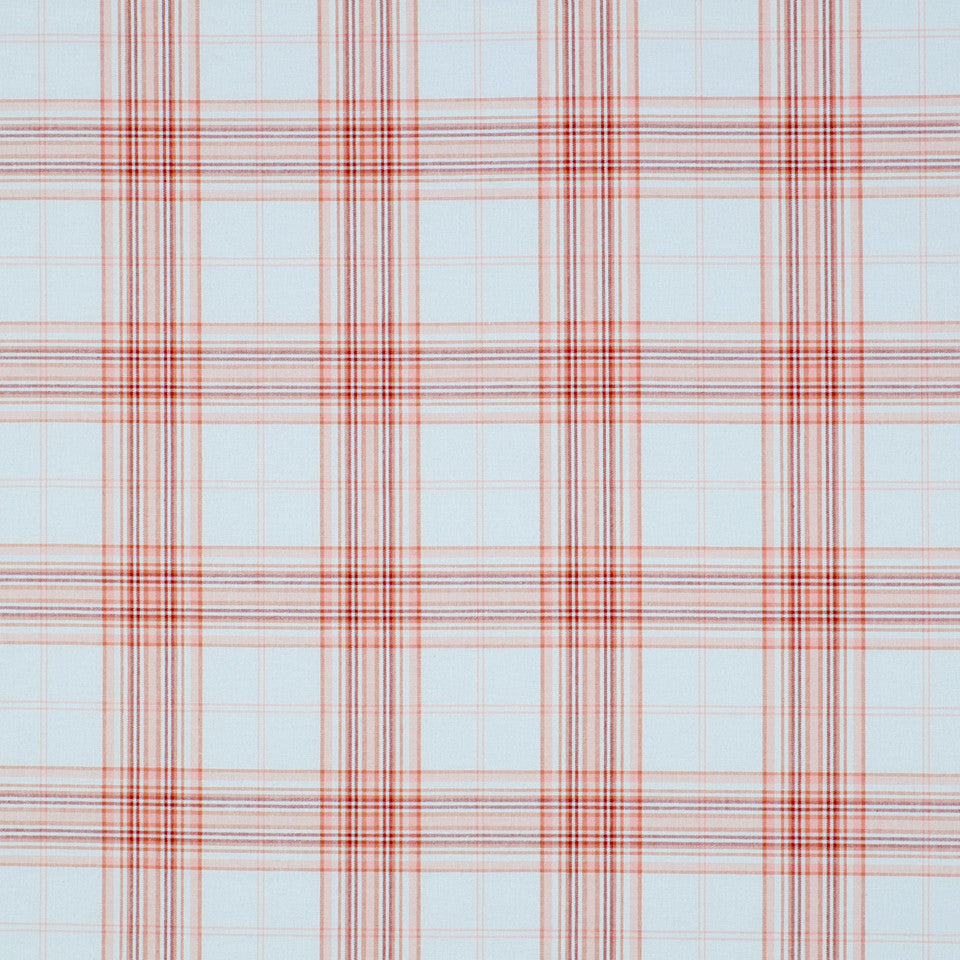 POINT JUDITH Fisher Plaid Fabric - Guava