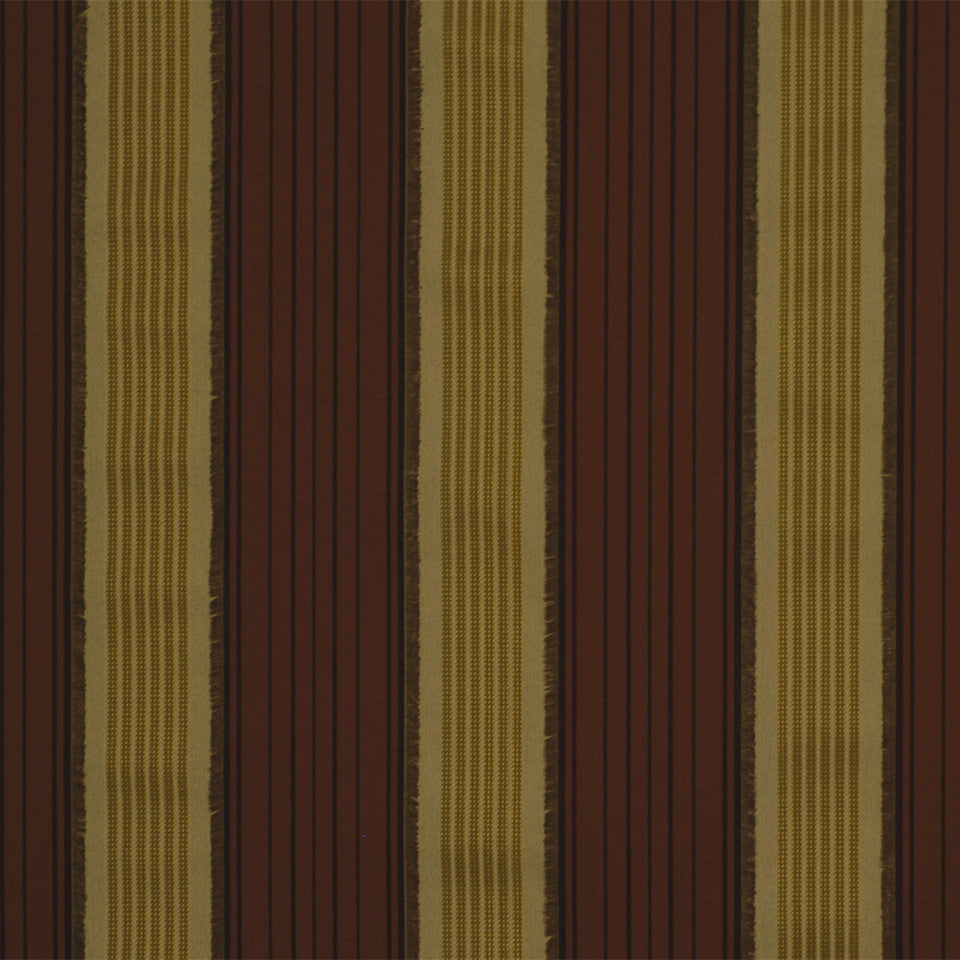 LA CAMPAGNE Vanessa Stripe Fabric - Red Maple