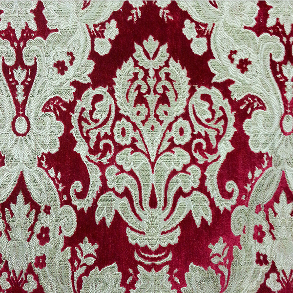 Red Cut Damask