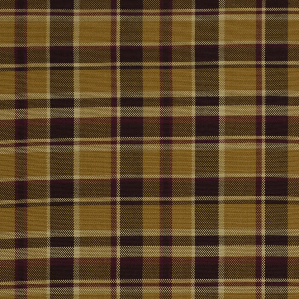LA CAMPAGNE Hopsack Plaid Fabric - Spice