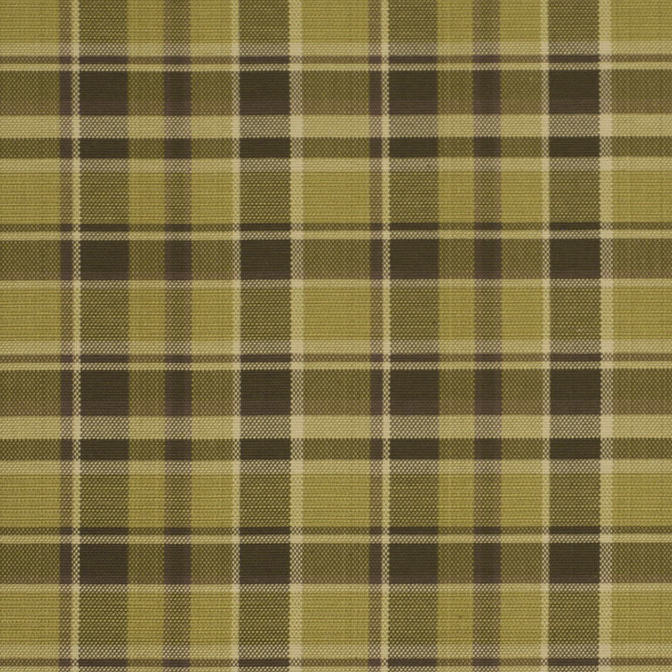 LA CAMPAGNE Hopsack Plaid Fabric - Bay Leaf