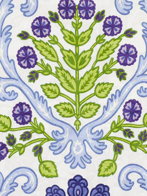SUSAN SARGENT BOTANICA Woods Bouquet Fabric - Blue