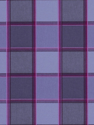 SUSAN SARGENT BOTANICA Botanica Plaid Fabric - Blueberry