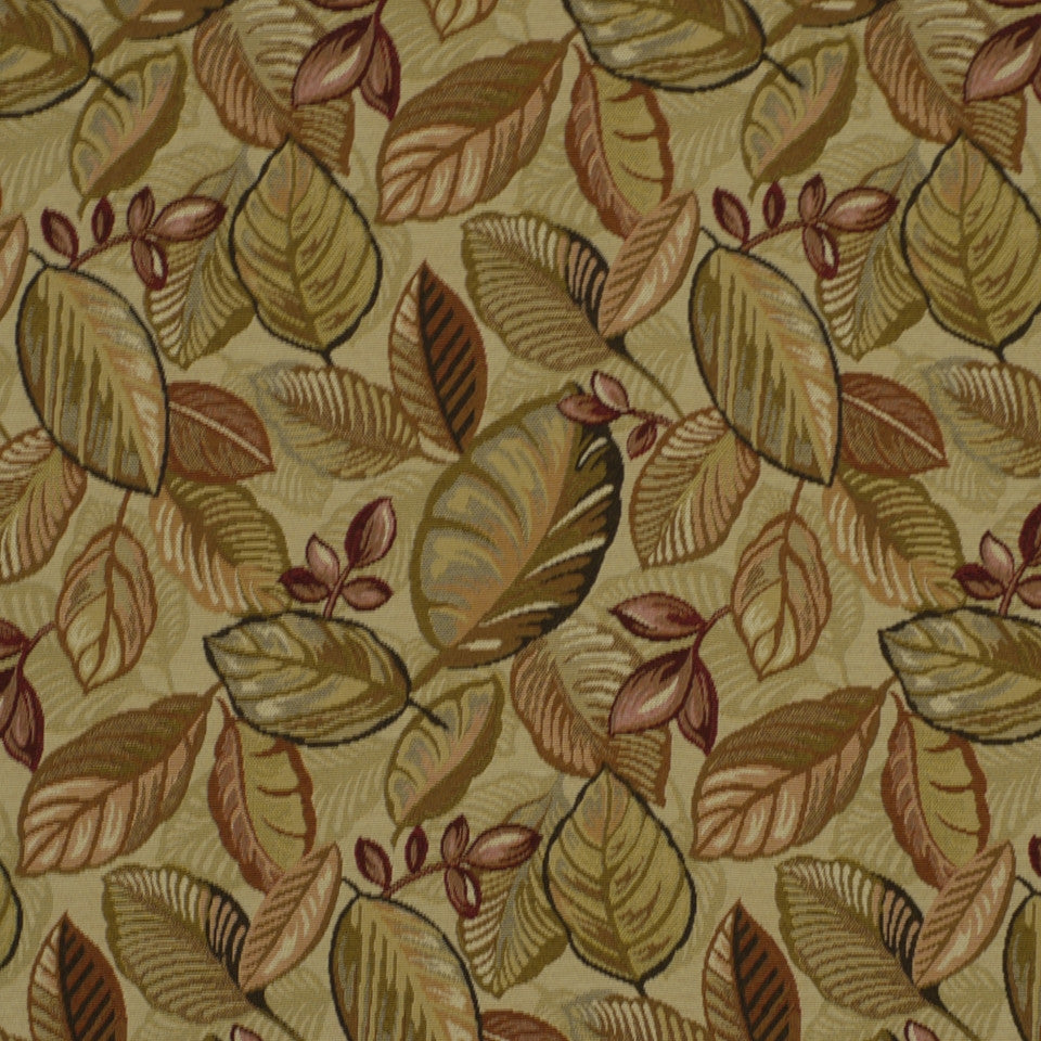 Lush Leaves Fabric - Multi