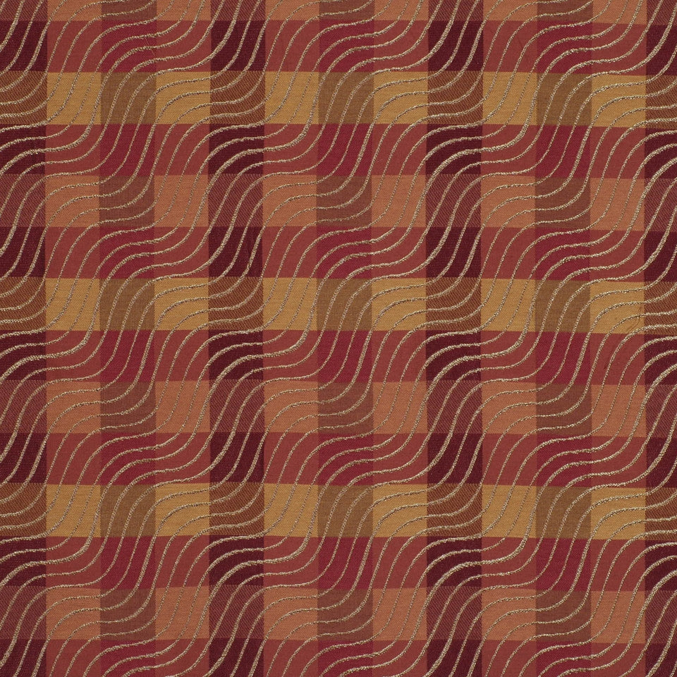 CRIMSON-TEABERRY-SANGRIA Isobars Fabric - Cinnamon