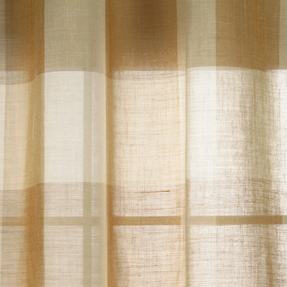LINEN SHEERS STRIPES & PLAIDS Outer Banks Fabric - Sand