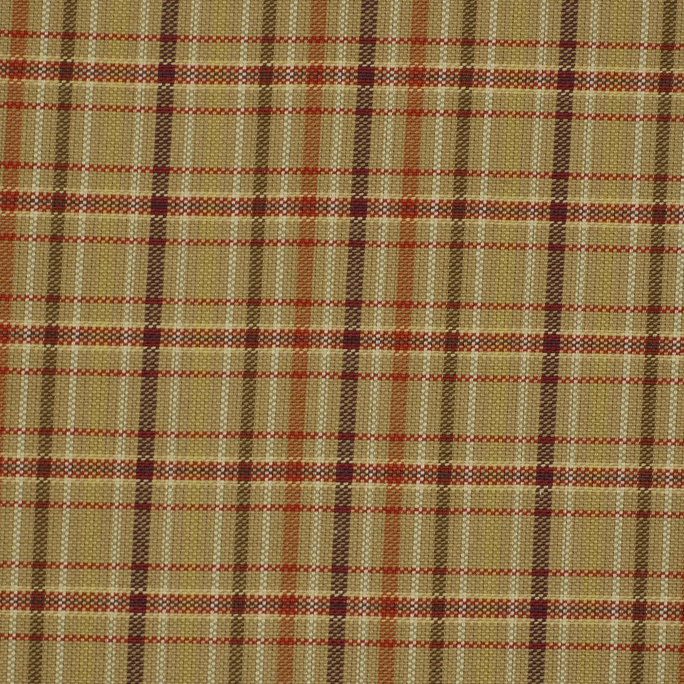 POINT PLEASANT Belmar Check Fabric - Crimson