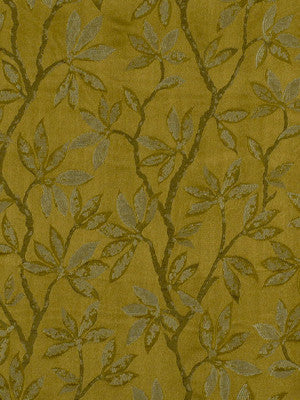 SILK HUES IV Summer Leaves Fabric - Caper