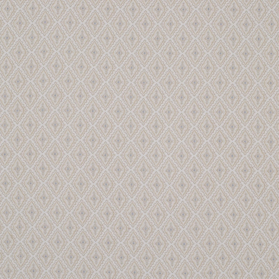 SAND DOLLAR Diamond Fence Fabric - Sand Dollar