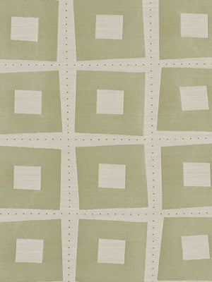 ELEMENTAL WINDOW II Modern Squares Fabric - Celadon