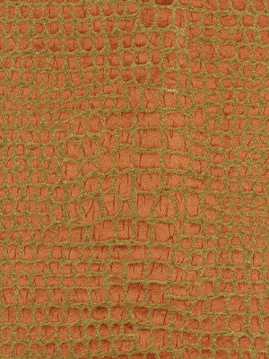 SILK HUES IV Marble Hedge Fabric - Russet