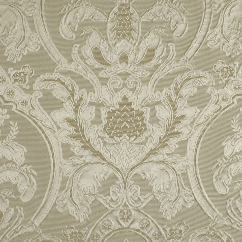 Weeping Leaves Fabric - Bisque
