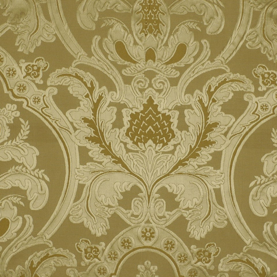Weeping Leaves Fabric - Burnished Gold