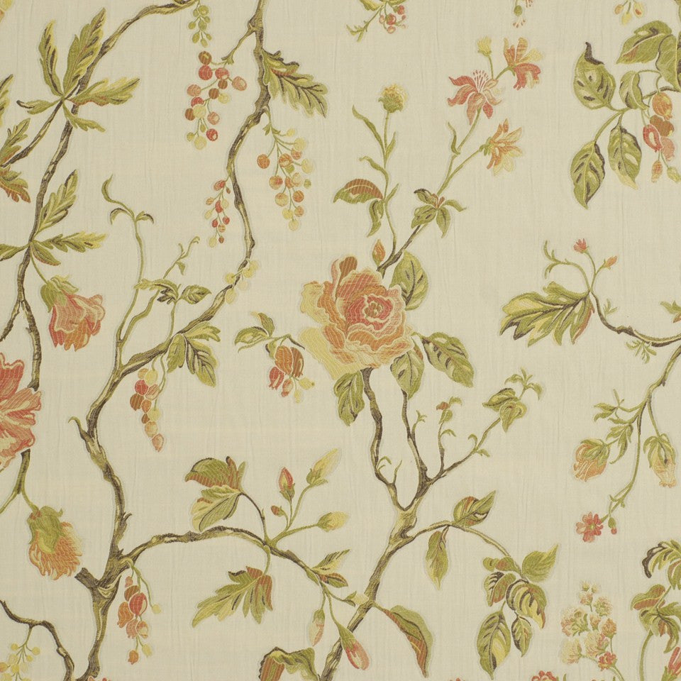 Garden Valley Fabric - Flamingo